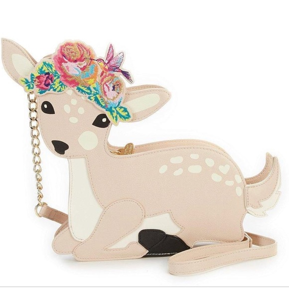 fc9ccda172d Betsey Johnson Fawning for you deer purse